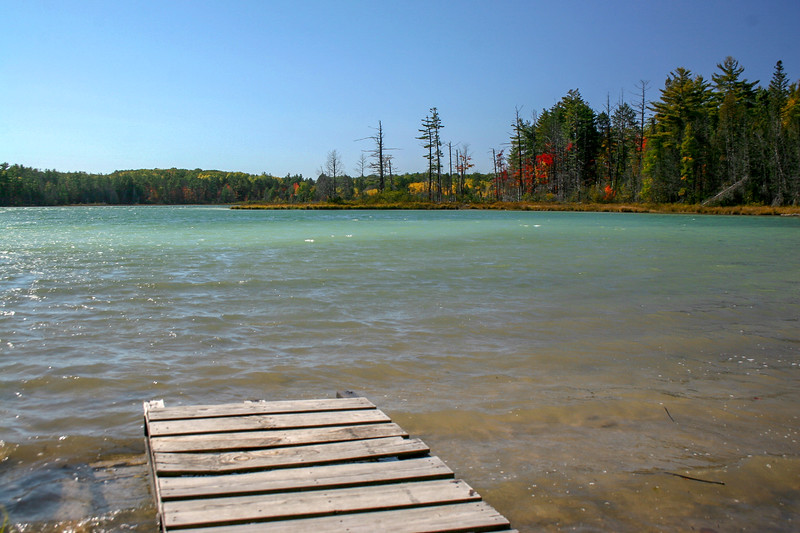 An old dock at the north end of the lake...