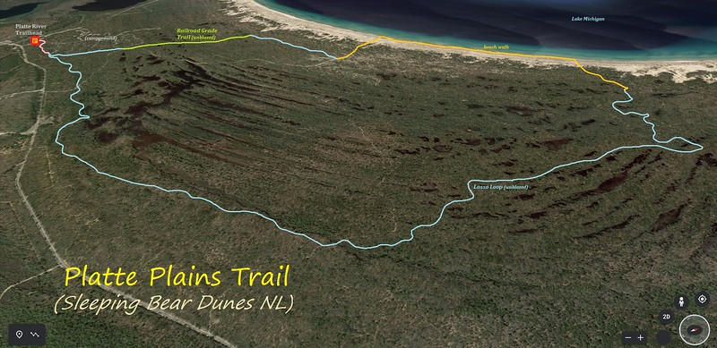 Platte Plains Trail Hike Route Map