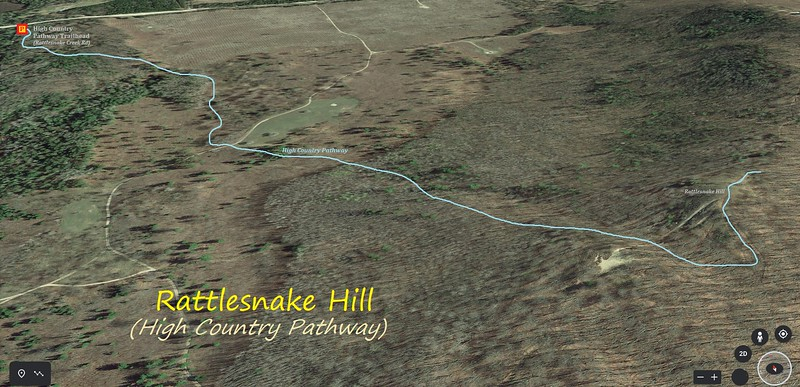 Rattlesnake Hill Hike Route Map