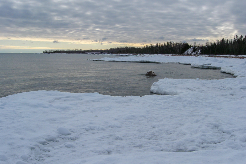 Looking back towards the harbor from the aforementioned cove...