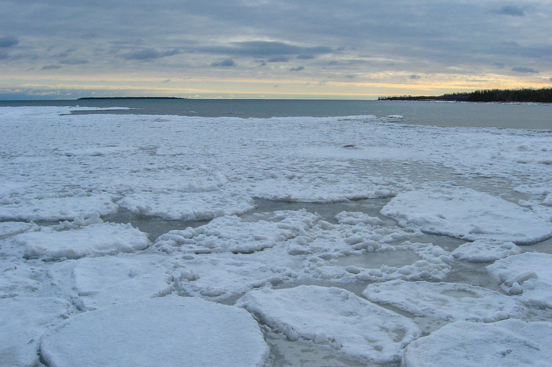 I enjoyed a few minutes here watching the ice bob up and down with each swell of the lake...quite relaxing...