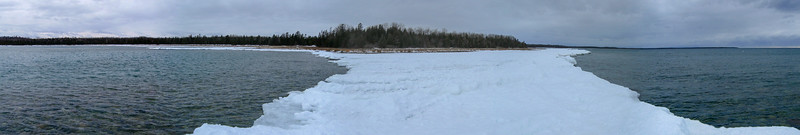 A panorama of Ferron Point from the edge of the ice...