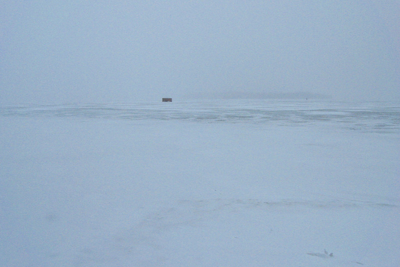 Hiking on a day like today is one thing, but sitting out in the middle of a frozen lake trying to catch fish...I don't get it...