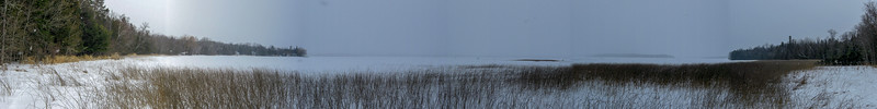 Shore line panorama...Rocky Point is on the right hand side of the photo...