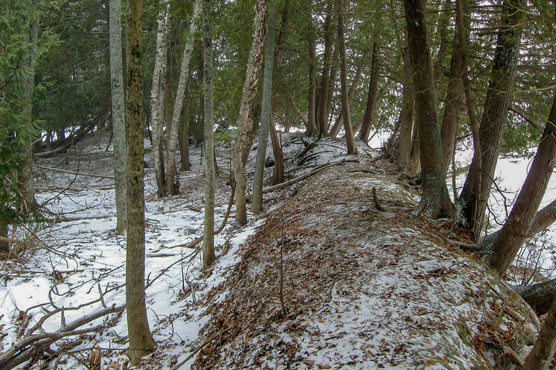 The shoreline here consists of these strange berms which separate Crooked Lake from the low swamplands beyond...