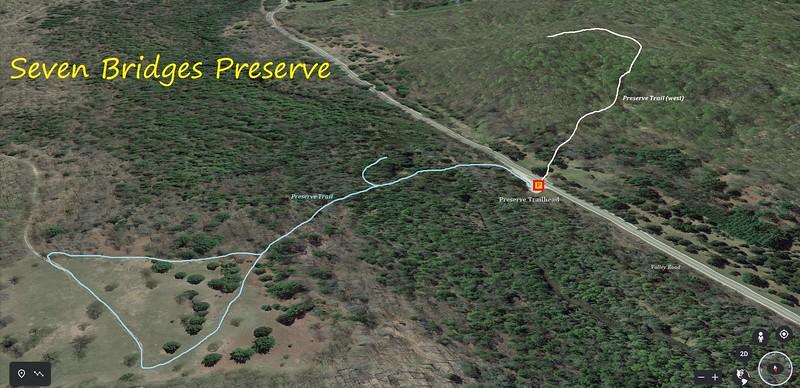 Seven Bridges Preserve Hike Route Map