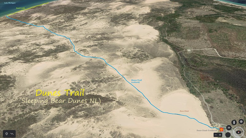Dunes Trail Hike Route Map