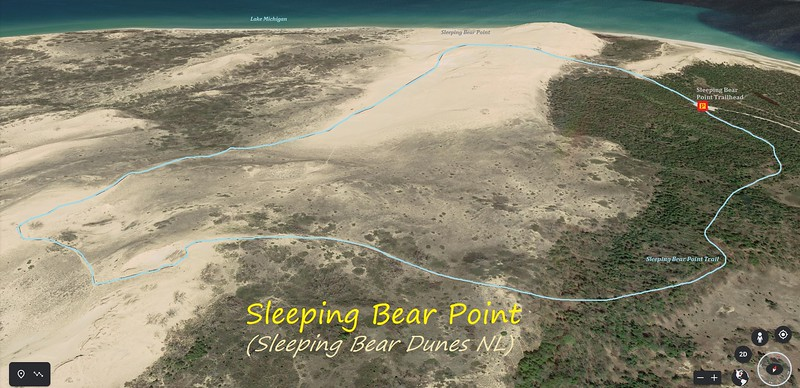Sleeping Bear Point Hike Route Map