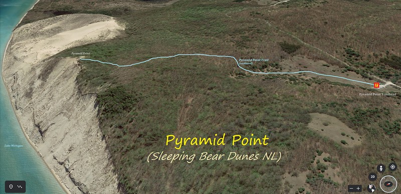 Pyramid Point Hike Route Map