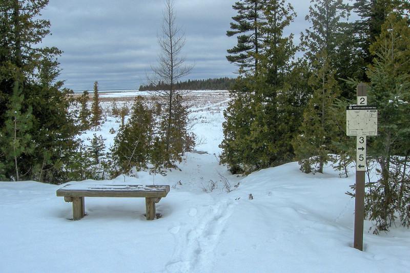 Loop #2-Loop #1 Trail Junction