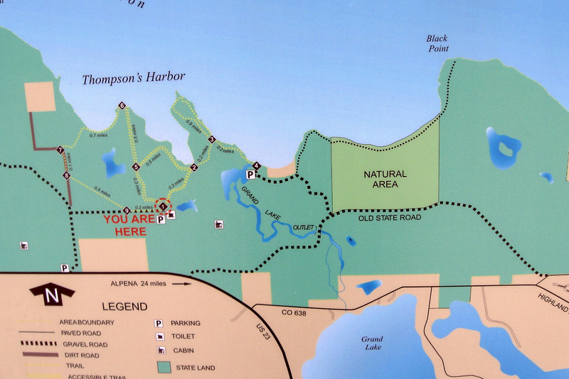 Thompson's Harbor State Park Trail Map