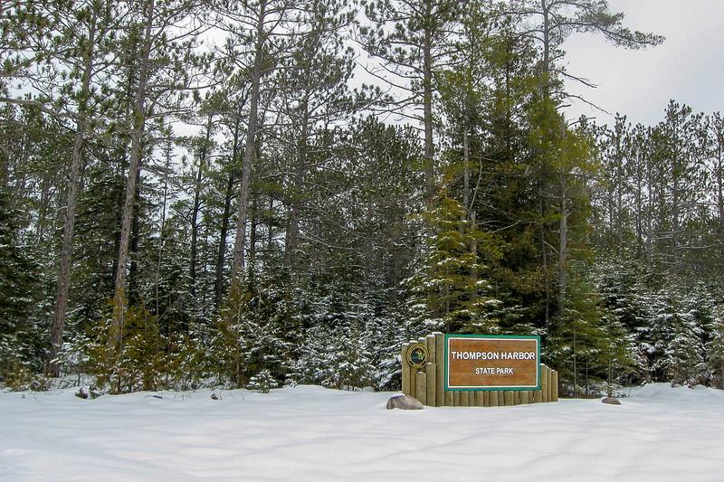Thompson's Harbor State Park Entrance