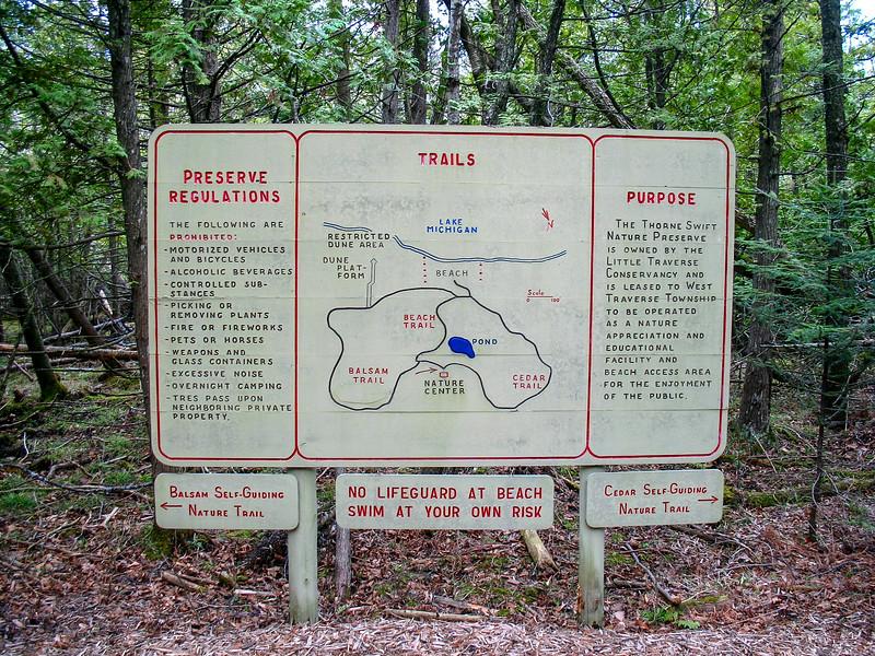 Thorne Swift Nature Preserve Trailhead