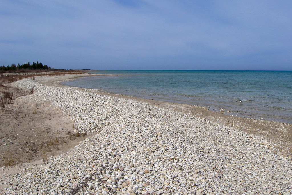 The lake had built an impressive pebble dune along this stretch...
