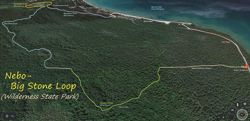 Nebo-Big Stone Loop Hike Route Map
