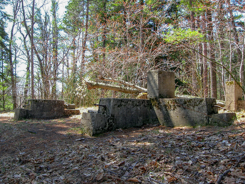 The remains of an old fire tower at the top of Nebo...
