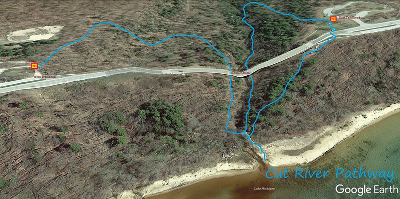 Cut River Pathway Hike Route Map