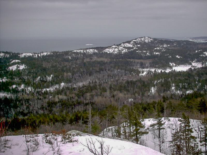 <b>Sugarloaf Mountain View</b> - Looking east to the Marquette area's more well-known but shorter peak, Sugarloaf Mtn.