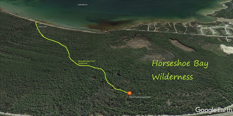 Horseshoe Bay Wilderness Hike Route Map