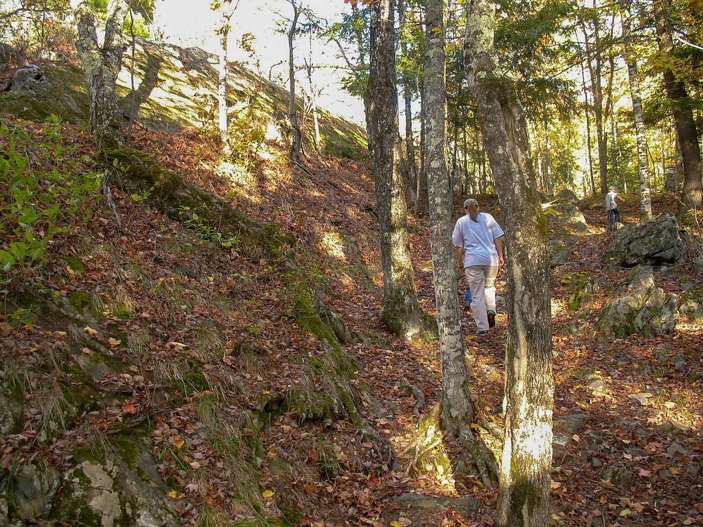 Climbing onto the ridge...