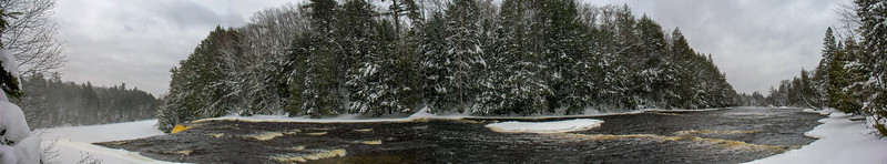 River pano above the falls...