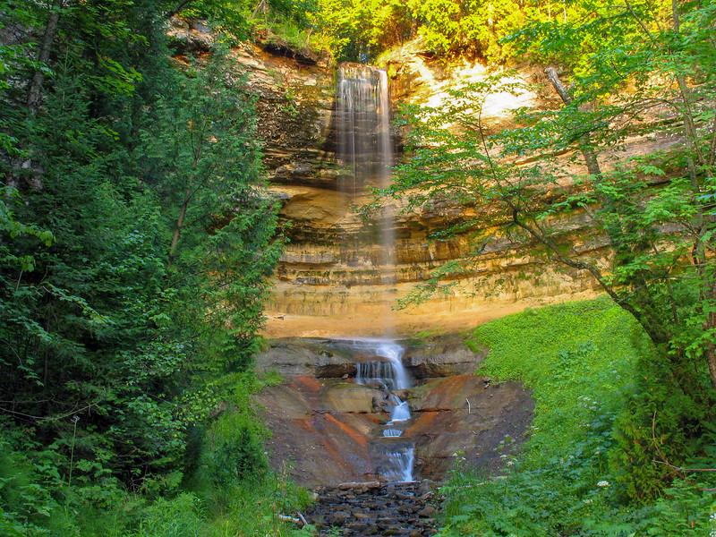 Munising Falls - Perhaps the Pictured Rocks most visited landmark, Munising Falls, as we headed home.
