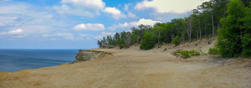 """An unusual clifftop """"beach."""""""