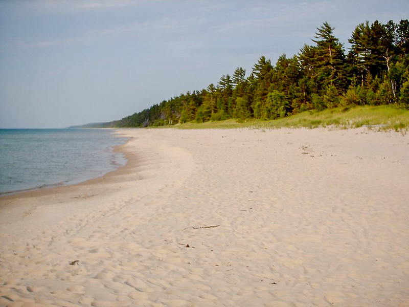 Day 3 - Looking North up Twelve Mile Beach from Coves Camp