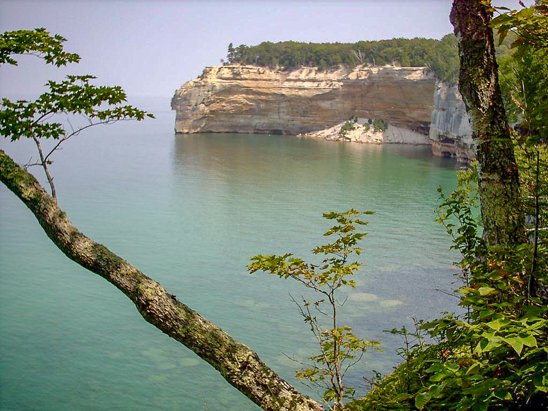 Day 2 - This is (in my opinion) the most beautiful section of Pictured Rocks. These are the highest cliffs found in the park and there is the perfect luch spot on top of the point.