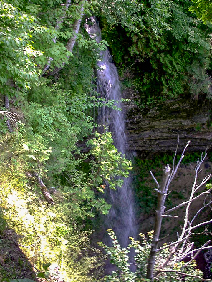 Day 1 - There are 2 or 3 of these types of waterfalls in the first 6 miles of the trail. They bear a striking resemblance to Munising Falls but are even more beautiful (I think) because of their remoteness.