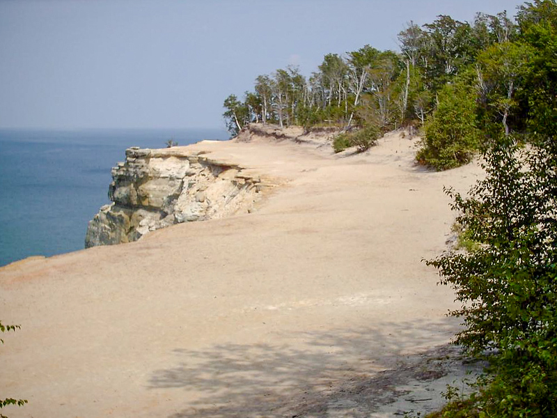 Day 2 - You pass a handful of these cliff-top beaches along this stretch of shoreline. It is a very strange feeling when standing on one of these beaches looking at the lake trying to figure out what looks different. Its the fact that at the edge of this beach there's a 200 foot drop to the water!