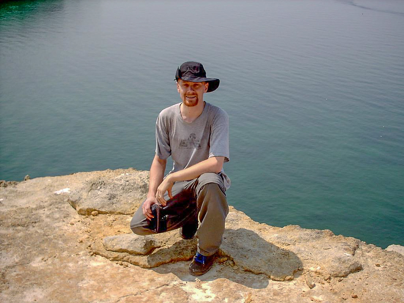 Day 2 - Photo op on Indian Head Point with Lake Superior about 20 feet behind me and 200 feet DOWN.
