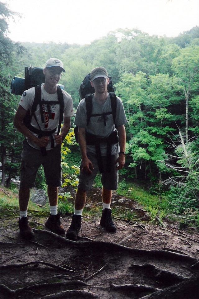 My brother Nate and I above the Little Carp River.
