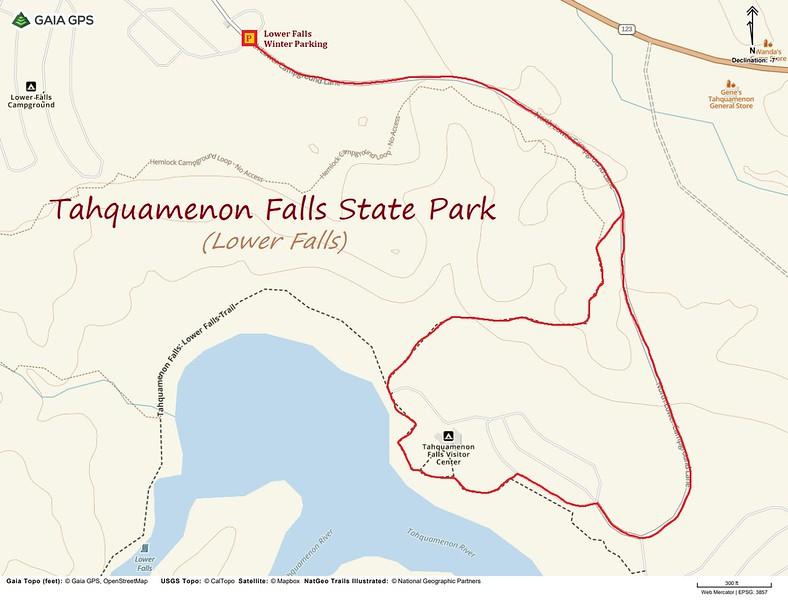 Lower Tahquamenon Falls Hike Route Map