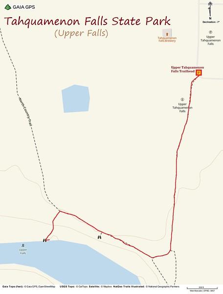 Upper Tahquamenon Falls Hike Route Map
