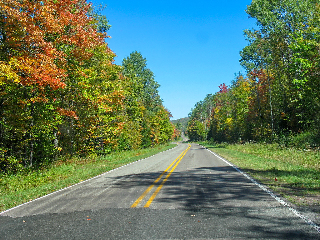 We were treated to a short stretch of paved road...