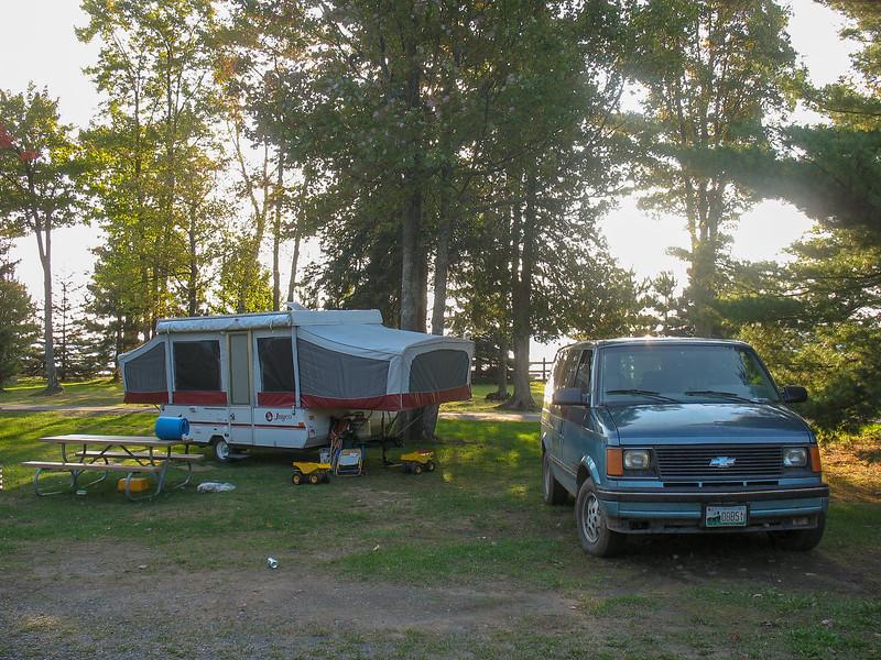 Base camp at Baraga State Park...