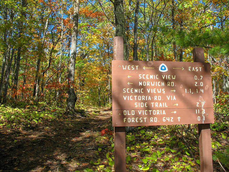 Norwich Bluff-North Country Trail Junction