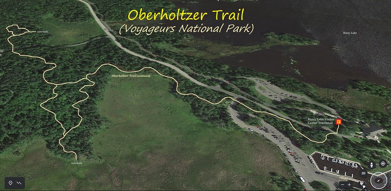 Oberholtzer Trail Hike Route Map