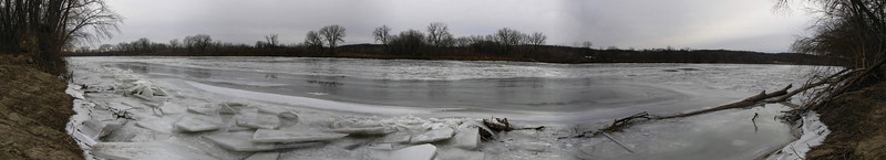 The panorama of the Des Moines River from the old mill...a great place to end our afternoon of hiking!