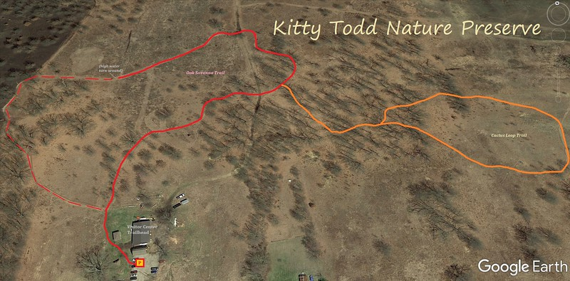 Kitty Todd Nature Preserve hike Route Map