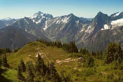 Mt. Dickerman trail, Del Campo Peak in the distance.