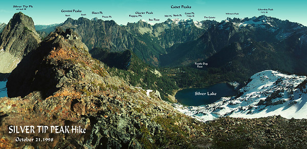 Panorama from summit of Silver Tip Peak.