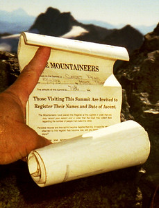 Summit register - Cadet Peak, N. Cascades