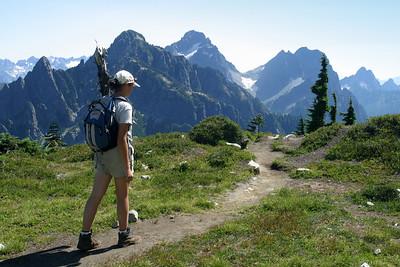 Descending from Vesper Peak.
