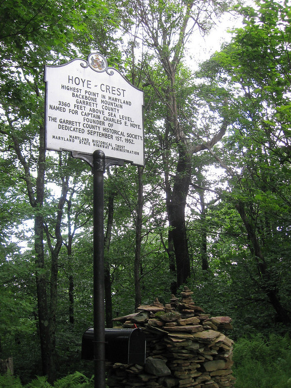 Hoye Crest (3,360'), the highest point in Maryland...
