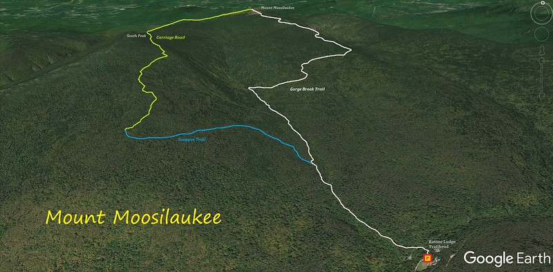 Mount Moosilauke Hike Route Map