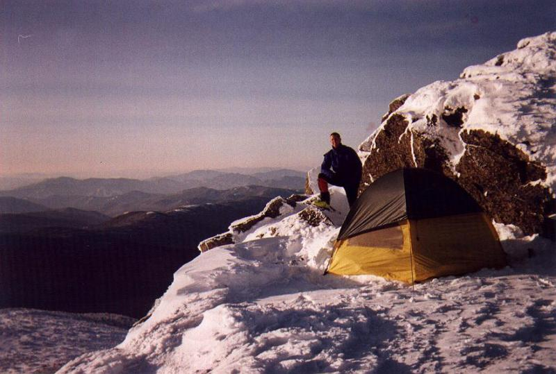 We were amazed to find out that we had set up camp among the summit rocks of Mt. Monroe...(5384 ft.)