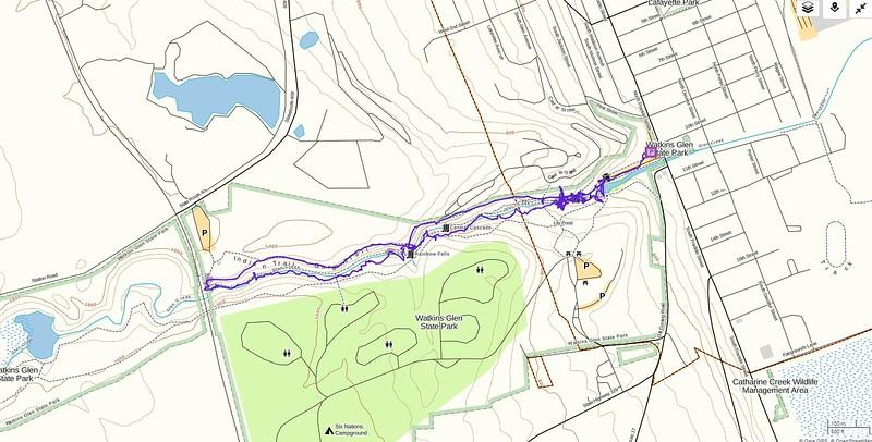Watkins Glen Hike Route Map