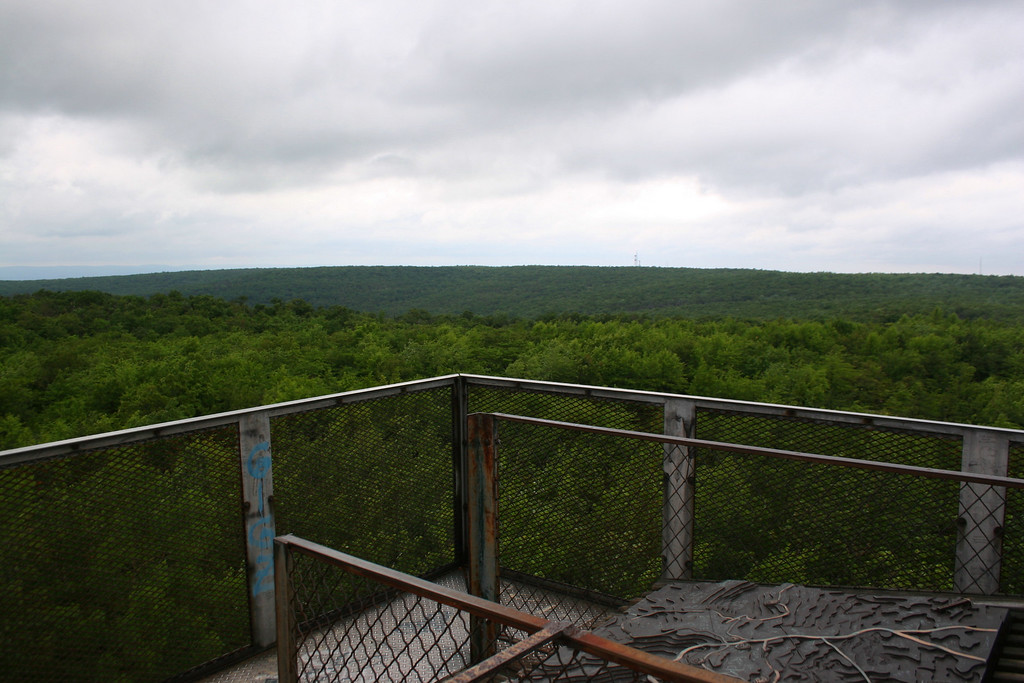 Looking out over the top of Pennsylvania...